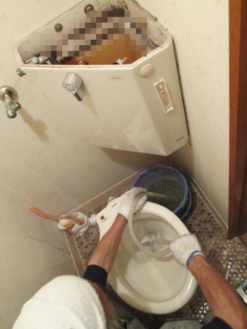手洗い付きトイレの原状回復工事
