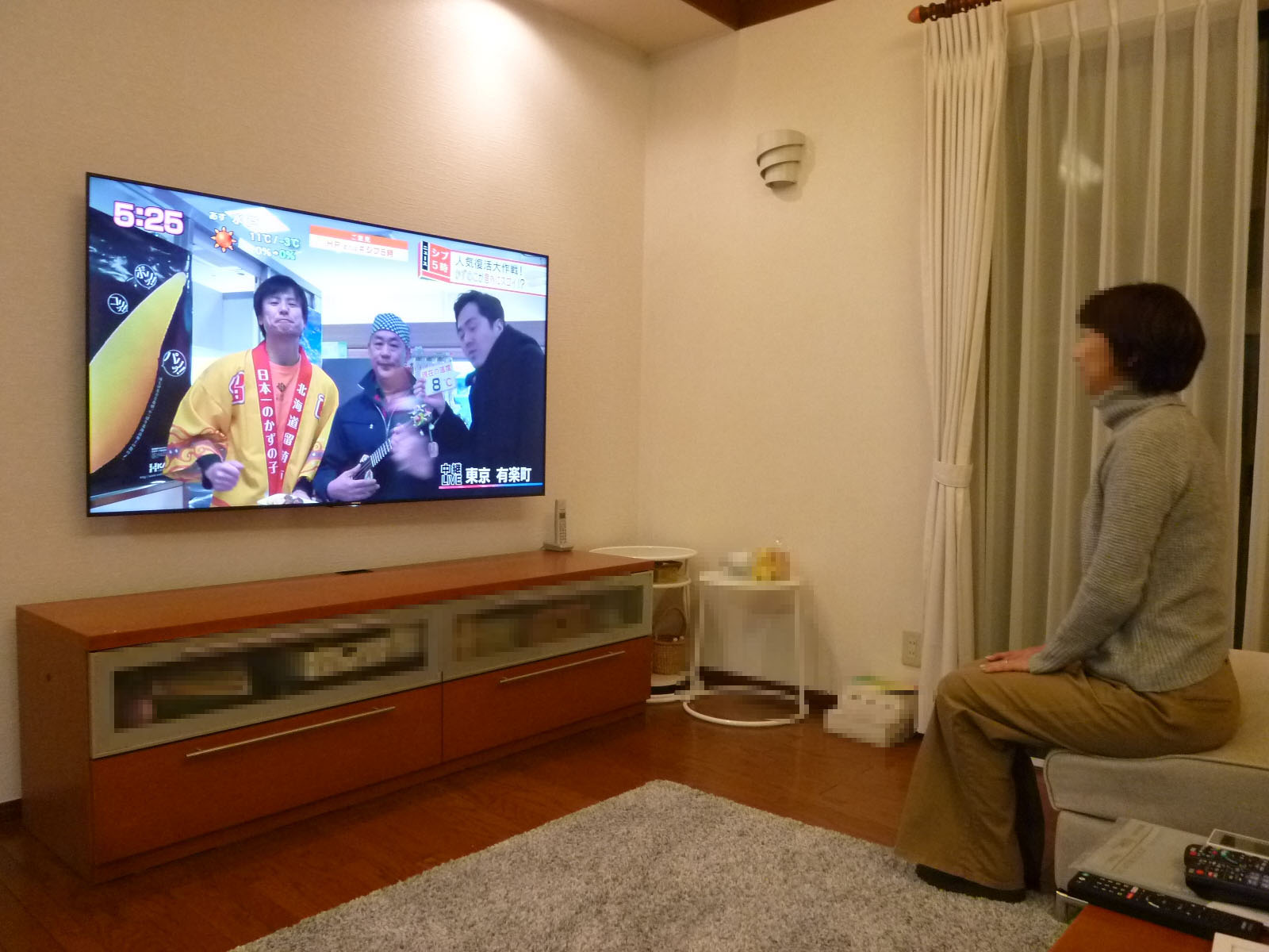 あっぱれ!ソニーの65型 壁掛けテレビ納品