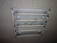 松戸市小根本にて角型照明器具の原状回復工事