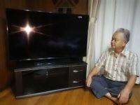 松戸市上本郷で4Kテレビとテレビ台を納品