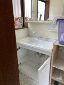 洗面台交換の施工事例